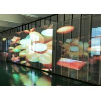 Buy cheap Transparent Video Glass Screen Side luminous Display SMD3512  P15.6 For Supermarket product