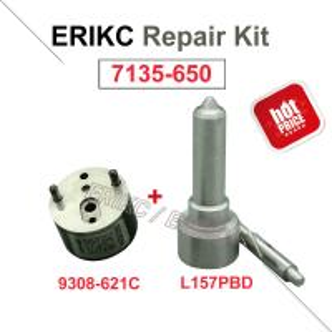 Buy cheap ERIKC 7135-650 delpbi injector repair kit A6640170221 nozzle L157PBD control valve 9308-621C for EJBR04701D SSANGYONG product