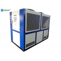 Buy cheap 40 HP 109 KW Industrial Air Cooled Water Chiller For Gas Station Gas Cooler product