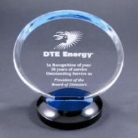 Buy cheap Clear Round Acrylic Award Trophy With Laser Engraving Logo For Gift product