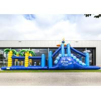 Buy cheap Giant Crazy Inflatable Obstacle Race Blue Color For Kids And Adults product