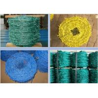 Buy cheap Livestock Green PVC Coated Barbed Wire Fence With Great Rust Resistance product