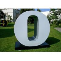 Letter O Garden Free Standing Sculpture Large Stainless Steel letter Sculpture