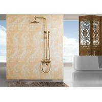 Buy cheap ROVATE Gold Polished Copper Luxury Shower System 3 Functions Water Flow product