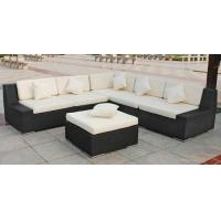 Buy cheap Outdoor Rattan Furniture , Garden Sectional Sofa Set With Ottoman product