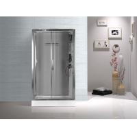 Quality Tempered Glass Rectangular Shower Cabins , Sliding Door Shower Cubicles for sale