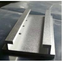 Buy cheap Sandblasted Aluminium Extrusion Profiles Extruded Aluminum Parts With Machining from wholesalers