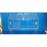 Buy cheap Rotating Acrylic Lottery Drum Lucite Game Display Box Eco-Friendly product