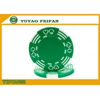 Buy cheap Poker And Hearts Style Two Solid Color Mold Customized Clay Poker Chips product