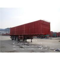 China Steel Material box van type enclosed trailer Van Body Truck for Cargo transportation on sale