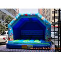 Buy cheap Blue Small Inflatable Air Bouncer For Trampolines And Structures / Inflatable Jumping Castle from wholesalers