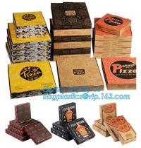 China 9 Inch Cheap Food Grade Customized Black Corrugated Paperboard Pizza Box,Printed Corrugated Cardboard Paper Pizza Box on sale
