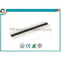 Buy cheap Black Terminal Block Connectors Single Row Pin Header With 2.54mm Pitch from wholesalers