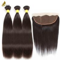 Buy cheap 8a 1b Color Malaysian Straight Virgin Hair With 13 * 4 Frontal Lace Closure product