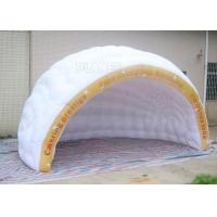Buy cheap Commercial Inflatable Igloo Tent Semi Circle Logo Printing Fire Retardant product