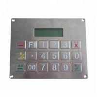 Buy cheap Customized 18 keys wired industrial stainless steel metal numeric keypad with display product