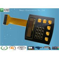 Buy cheap High Glossy Metal Dome Membrane Switch With Aluminum Backplate & FPC Flexible Printed Circuit product