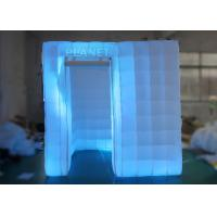 Buy cheap 2.5 M Led Inflatable Photo Booth One Door With Color Changing Light product