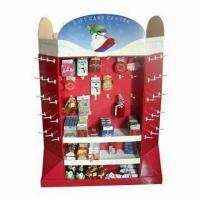 Buy cheap Floor Stand Display, Pallet Size Cardboard Display Stand, Sturdy and Easy Assemble product