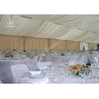 Quality Exterior Luxury Decoration Portable Event Canopy Tent with Linings and Lights for sale