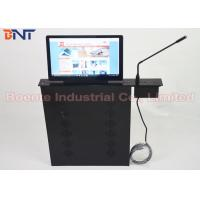 Buy cheap Conference Room Meeting Microphone Slim LCD Monitor Screen Motorized Lift 17.3 Inch 1080P Screen product