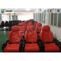 Quality Red And White Color 5D Movie Theater  Seats With Large Screen And 7.1 Audio System for sale