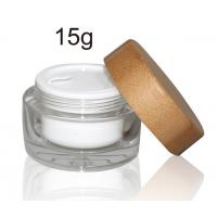 Buy cheap ECO - Friendly Bamboo Cosmetic Glass Bottles Packaging Wooden 5G 50G Custom Logo product