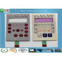 Buy cheap Custom Membrane Switch Panel Poly Dome 0.175mm PET Overlay Pink Window product