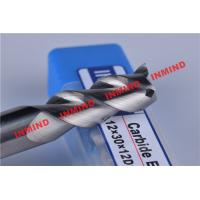 China HRC50 8mm / 10mm / 12mm Aluminium End Mill 3 Flute No Coating 45º Helix Angle on sale