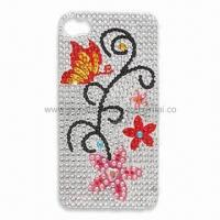 Buy cheap Crystal/Acrylic Sticker for Mobile Phone Decoration, Measures 5.5 x 9.5cm product