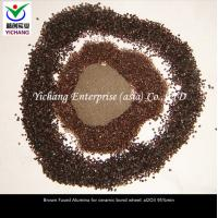 Buy cheap Brown fused aluminum oxide size  macrogrits  microgrits and powders for abrasive media and refractory materials product