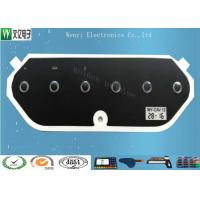 Buy cheap Embossed 0.125mm Glossy Polyester Membrane Switch Overlay With Serial Number And Date product