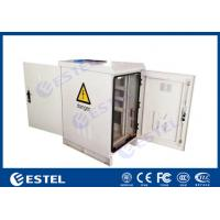 Buy cheap 22U IP55 Single Layer Custom Made Outdoor Telecom Cabinet With Front Door Back from wholesalers