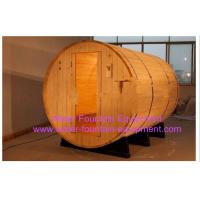 Buy cheap Canopy Barrel Sauna Room Canadian Pine Wood Electric Sauna Heater product