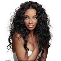 Buy cheap Brazilian Curly Swiss Curly Human Hair Wigs With Baby Hair Natural Black product
