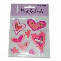 Buy cheap Bubble Heart-shaped Epoxy 3D Stickers, Available in Various Styles product
