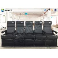 Quality Luxury Motion Chair 5 Seats 4D Cinema System With Spray Air / Vibration for sale