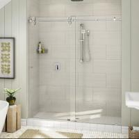 Buy cheap Top Roller Bathroom Sliding Glass Door Frameless Shower Enclosure product