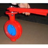 Buy cheap Red Butterfly Valve Double Flange / Flowline Butterfly Shut Off Valve from wholesalers