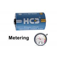 Buy cheap 1200mAh High Voltage Cylindrical Battery , Lithium Thionyl Chloride Li Socl2 3.6 V Battery product