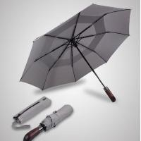 Buy cheap Double Canopy Layer Automatic Open And Close Compact Umbrella Vented Grey Color product