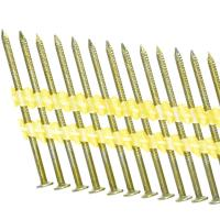 China Ring Shank Galvanized Plastic Strip Nails For Building Cinstruction 2-Inch by .113-Inch on sale