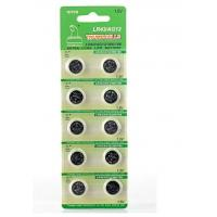 Buy cheap AG12 1.5V 115mAh alkaline button cell battery with CE, RoHs, ISO, MSDS, SGS product