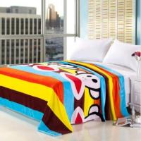 Buy cheap Twin Size Warm Micro Fiber Blanket Breathable For Family , Customized Picture Blankets product