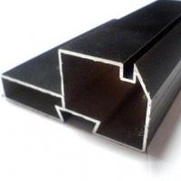 Buy cheap Black Powder Coated RAL9006 Aluminium LED Profiles / Aluminum Extrusion Profiles product