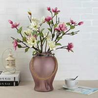 Buy cheap Handmade Home Sand Decorative Glass Vases Indoor Colored With Hemp Rope product
