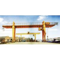 Buy cheap 28.5m Span 200 / 32t Double Girder Gantry Electric Overhead Crane with Hook product