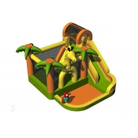 Buy cheap Backyard Kids Small Inflatable Jumping Castle Bouncer With Water Slide from wholesalers