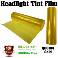Buy cheap Car Headlight Tint Film 3 layers 0.3*10m/roll - Gold product