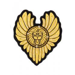 Heart Type Military Bullion Badges , Shoes Custom Embroidery